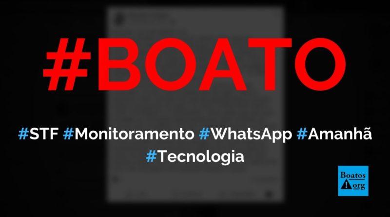 A partir de amanhã, todas chamadas e mensagens do WhatsApp serão gravadas, diz boato (Foto: Reprodução/Facebook)