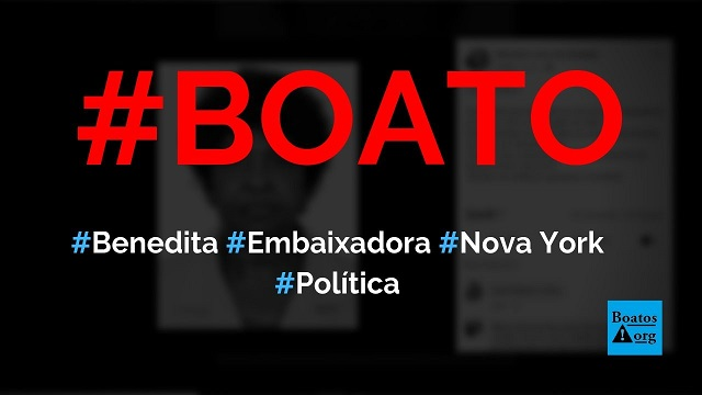 Benedita da Silva já foi embaixadora em Nova York (EUA) sem saber falar inglês, diz boato (Foto: Reprodução/Facebook)
