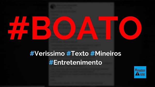 Luis Fernando Verissimo escreve texto sobre degustação de vinho em Minas, diz boato (Foto: Reprodução/Facebook)