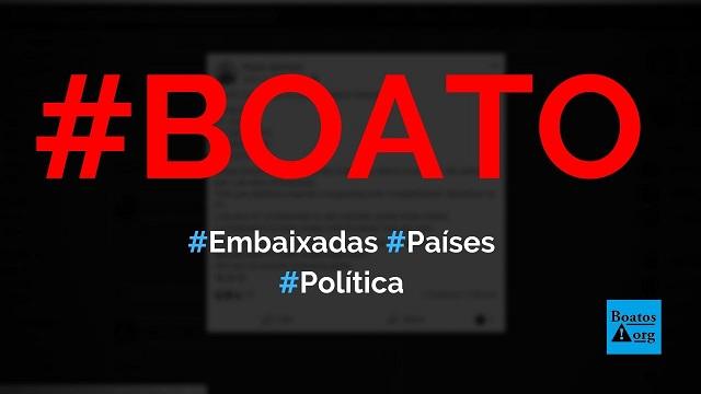 Roseau, St. John's, ST. George's, Basseterre e Kingstown são países com embaixadas do Brasil, diz boato (Foto: Reprodução/Facebook)