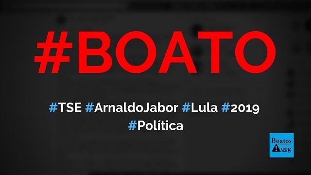TSE acaba de censurar comentário de Arnaldo Jabor sobre Lula, Dilma, Mensalão e STF, diz boato (Foto: Reprodução/Facebook)