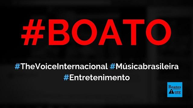 Vencedor do The Voice Internacional fez jurados virarem com música brasileira, diz boato (Foto: Reprodução/Facebook)