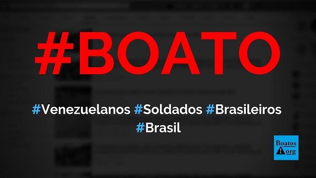 Venezuelanos pró-Maduro agrediram soldados brasileiros em nosso território, diz boato (Foto: Reprodução/Facebook)