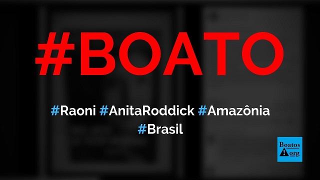 Cacique Raoni tirou US$ 10 milhões de Anita Roddick (dona da Body Shop) com a ONG Cobra Coral, diz boato (Foto: Reprodução/Facebook)