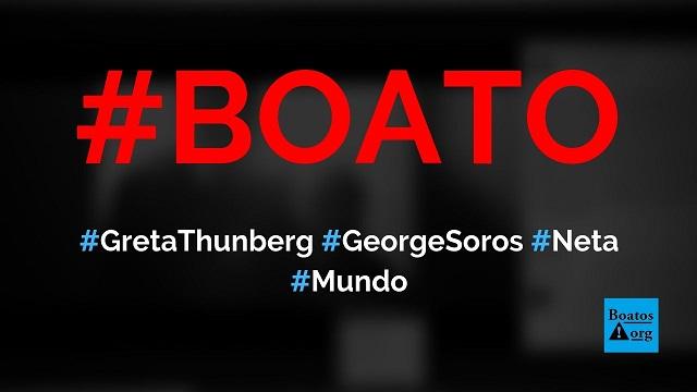 Greta Thunberg é neta de George Soros e posou para foto com avô esquerdista, diz boato (Foto: Reprodução/Facebook)