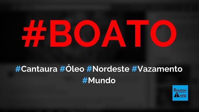 Vazamento de óleo em Cantaura (Venezuela) chegou ao Atlântico e deixou Marinha em prontidão, diz boato (Foto: Reprodução/Facebook)