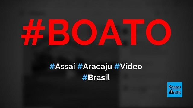 Vídeo mostra queda de estrutura no supermercado Assaí em Aracaju (SE), diz boato (Foto: Reprodução/Instagram)