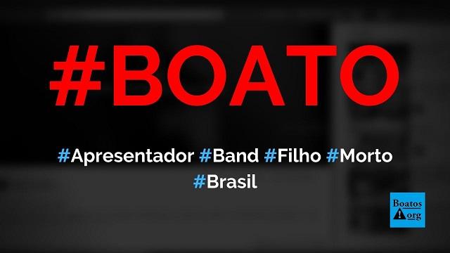 Filho do apresentador da TV Band de Belém (Pará) foi morto por causa de celular, diz boato (Foto: Reprodução/Facebook)
