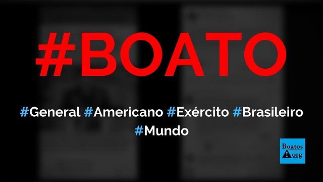 General norte-americano chefe da Otan diz que Exército do Brasil é de m..., diz boato (Foto: Reprodução/Facebook)