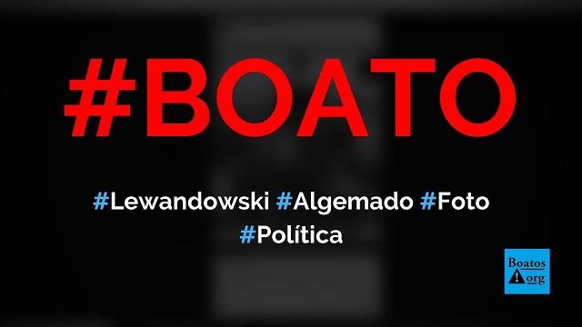 Lewandowski é flagrado algemado em foto de grupo terrorista tirada em 1965, diz boato (Foto: Reprodução/Facebook)