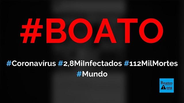 Coronavírus tem 2,8 milhões de infectados e matou 112 mil pessoas na China, diz boato (Foto: Reprodução/Facebook)