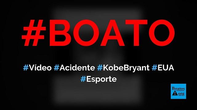 Vídeo mostra acidente de helicóptero que matou Kobe Bryant, diz boato (Foto: Reprodução/Facebook)