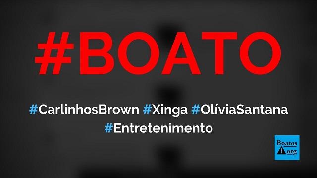 Carlinhos Brown xinga Olívia Santana após ser chamado de racista, mostra vídeo, diz boato (Foto: Reprodução/Facebook)