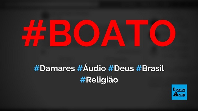 Ministra Damares Alves gravou áudio com visão de Deus sobre o Brasil após receber homenagem em Belo Horizonte, diz boato (Foto: Reprodução/Facebook)