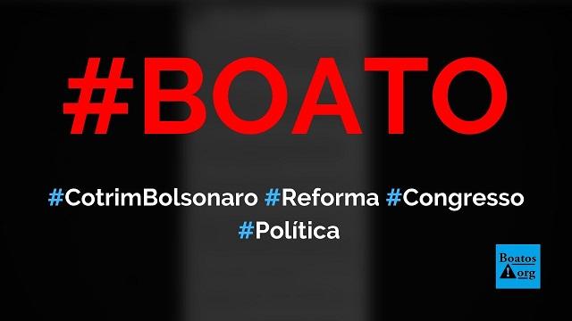 PEC de reforma do Congresso com 2,5 milhões de assinaturas é entregue por Cotrim Bolsonaro, diz boato (Foto: Reprodução/Facebook)