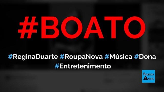 Roupa Nova fez homenagem a Regina Duarte com nova versão de música Dona, diz boato (Foto: Reprodução/Facebook)