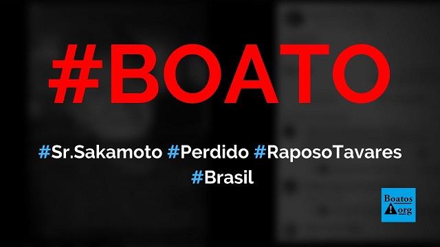 Sr. Sakamoto está perdido na rodovia Raposo Tavares em Cotia (SP), diz boato (Foto: Reprodução/Facebook)
