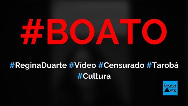Vídeo de Regina Duarte sobre foro privilegiado foi censurado após passar na TV Tarobá, diz boato (Foto: Reprodução/Facebook)