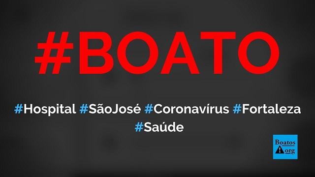 Diretor do hospital São José de Fortaleza alerta que todos devem estocar comida por causa do coronavírus, diz boato (Foto: Reprodução/Facebook)