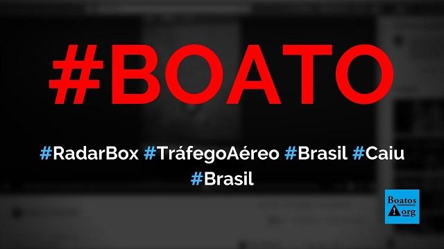 Radarbox mostra que Brasil diminuiu número de voos enquanto EUA e China seguem fluxo aéreo normal, diz boato (Foto: Reprodução/Facebook)