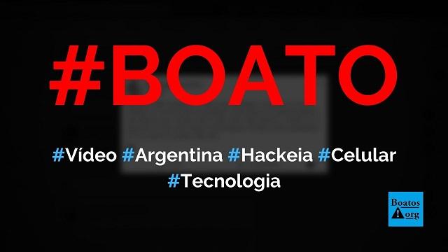 Vídeo Argentina está fazendo isso, sobre Covid-19, hackeia o telefone em 10 segundos, diz boato (Foto: Reprodução/Facebook)