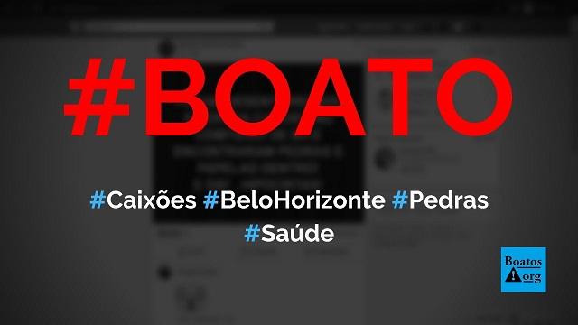Caixões são enterrados com pedra e madeira em Belo Horizonte (MG), diz boato (Foto: Reprodução/Facebook)