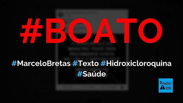 Juiz Marcelo Bretas escreve texto defendendo uso de hidroxicloroquina, diz boato (Foto: Reprodução/Facebook)