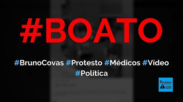 Profissionais de saúde dão as costas para Bruno Covas em chegada a hospital, mostra vídeo, diz boato (Foto: Reprodução/Facebook)