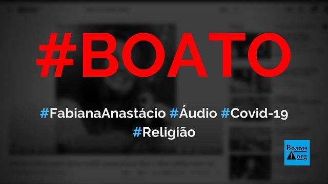 Cantora gospel Fabiana Anastácio gravou áudio alertando sobre Covid-19 no hospital, diz boato (Foto: Reprodução/YouTube)
