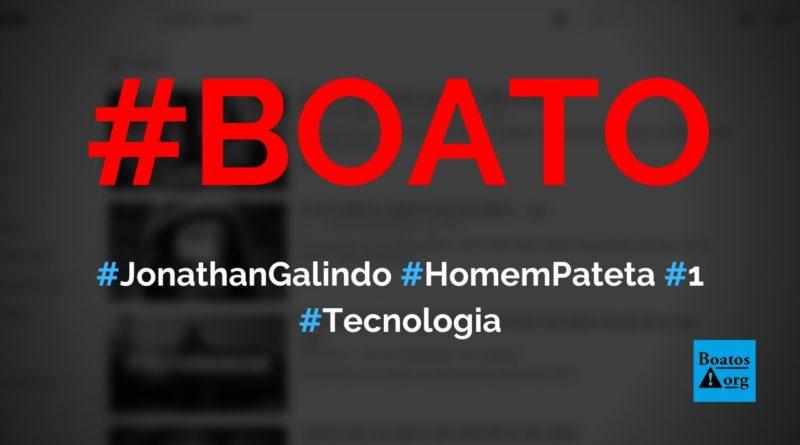 """Jonathan Galindo, o """"homem Pateta"""", é um ser sobrenatural que vai atacar você e a sua família, diz boato (Foto: Reprodução/Facebook)"""