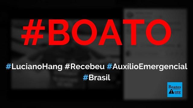 Luciano Hang dono da Havan se cadastrou e recebeu auxílio emergencial, diz boato (Foto: Reprodução/Facebook)