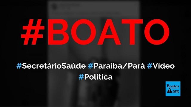 PF encontra dinheiro escondido no forro do teto da casa do secretário de Saúde da Paraíba (Pará), mostra vídeo, diz boato (Foto: Reprodução/Facebook)