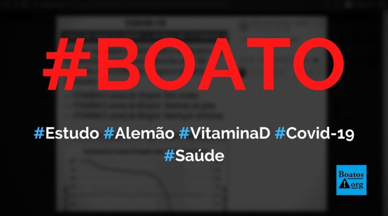 Altas taxas de vitamina D diminuem taxa de mortalidade por Covid-19, diz boato (Foto: Reprodução/Facebook)