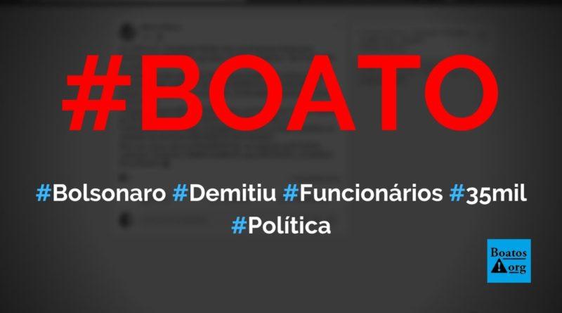 Bolsonaro demitiu funcionários que ganhavam R$ 35 mil na empresa do trem-bala que nunca existiu, diz boato (Foto: Reprodução/Facebook)