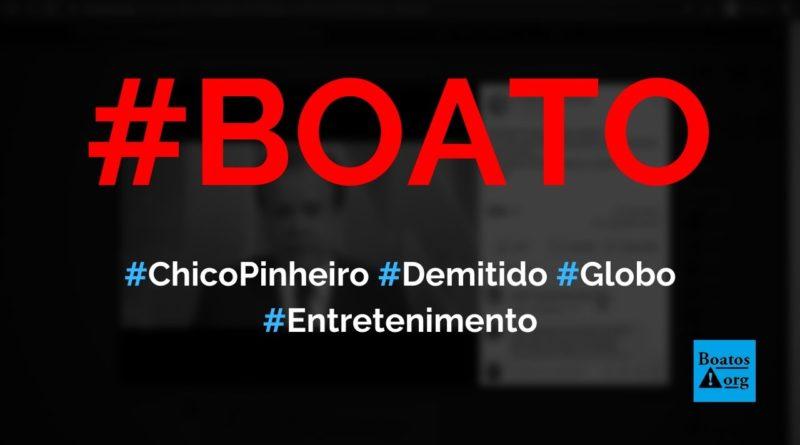 Chico Pinheiro é demitido da Globo por causa de crise na emissora, diz boato (Foto: Reprodução/Facebook)