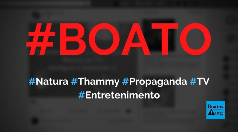 Natura contratou Thammy Miranda para estrelar propaganda na TV de Dia dos Pais, diz boato (Foto: Reprodução/Facebook)