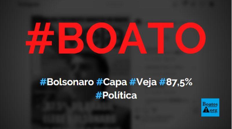 Capa da Veja mostra Bolsonaro eleito no 1º turno com 87,5% em pesquisa, diz boato (Foto: Reprodução/Instagram)
