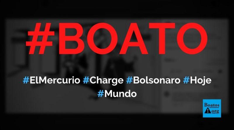 """El Mercurio, do Chile, publicou charge de Bolsonaro e """"morte comunista"""", diz boato (Foto: Reprodução/Facebook)"""