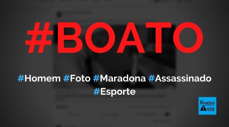 Homem que tirou foto com Maradona é encontrado morto, diz boato (Foto: Reprodução/Facebook)