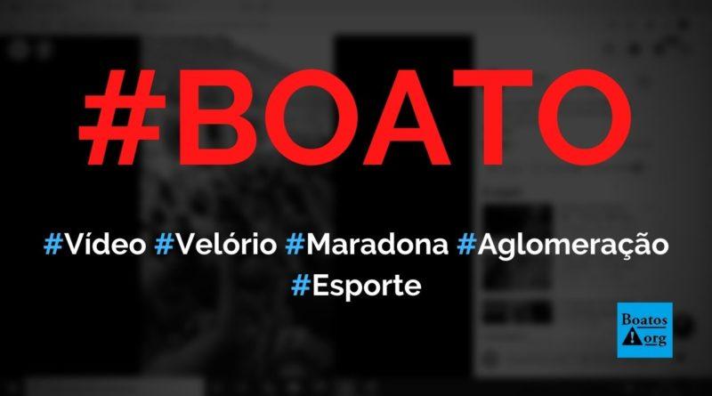 Vídeo mostra argentinos sem máscara e em aglomeração no velório de Maradona, diz boato (Foto: Reprodução/Facebook)