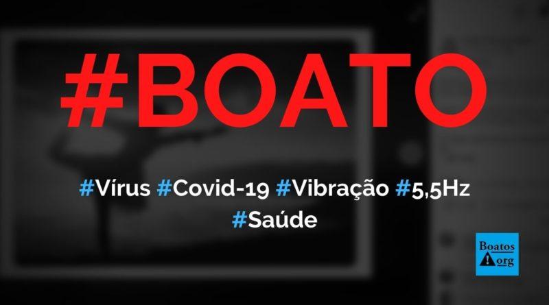 Vírus da Covid-19 tem vibração de 5,5 hz e morre acima de 25,5 hz, diz boato (Foto: Reprodução/Facebook)