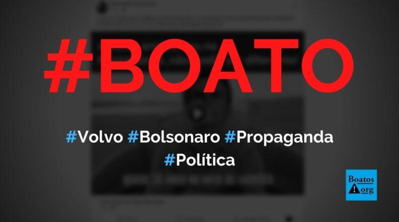 Volvo fez propaganda com Bolsonaro entre dois caminhões, diz boato (Foto: Reprodução/Facebook)