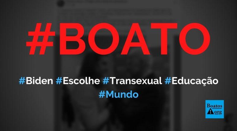 """Biden escolheu transexual Charlotte Clymer para ser """"ministra"""" da Educação, diz boato (Foto: Reprodução/Facebook)"""