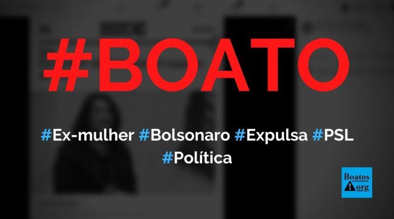 Ex-mulher de Bolsonaro, Valéria Bolsonaro, é expulsa do PSL, diz boato (Foto: Reprodução/Facebook)