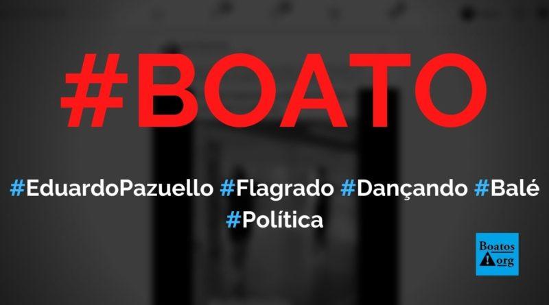 Ministro da Saúde, Eduardo Pazuello, é filmado em aula de balé, diz boato (Foto: Reprodução/Facebook)