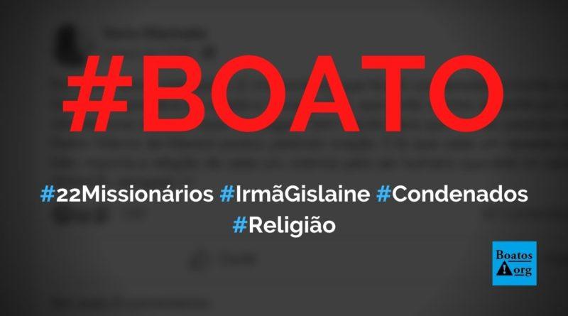 22 missionários (irmã Gislaine e outros) foram condenados à morte por afegãos islâmicos, diz boato (Foto: Reprodução/Facebook)