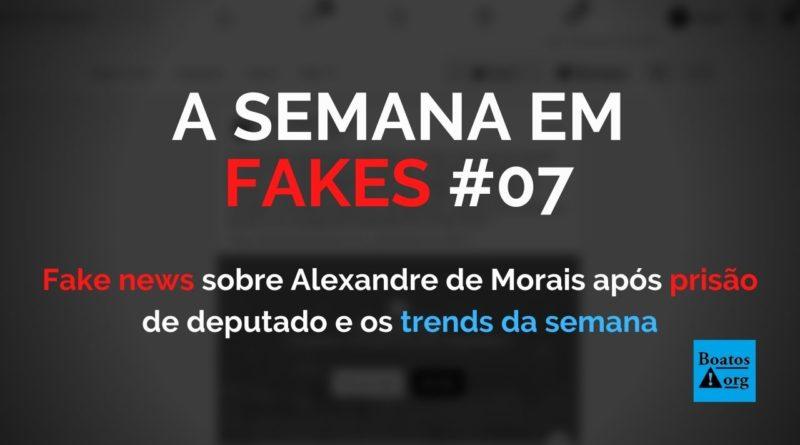 Após prisão de deputado, fake news sobre Alexandre de Moraes e STF voltam a viralizar na web, diz boato (Foto: Reprodução/Facebook)