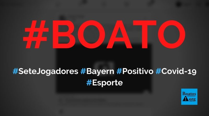 Sete jogadores do Bayern (incluindo Lewandowski) testaram positivo para a Covid-19, diz boato (Foto: Reprodução/Facebook)