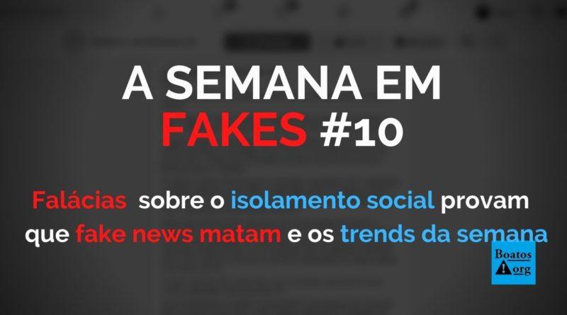 Falácias contra o isolamento social na pandemia são mais uma prova de que as fake news podem matar, diz boato (Foto: Reprodução/Facebook)