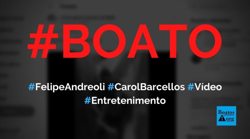 Felipe Andreoli e Carol Barcellos são flagrados em vídeo nos bastidores da Globo, diz boato (Foto: Reprodução/Facebook)